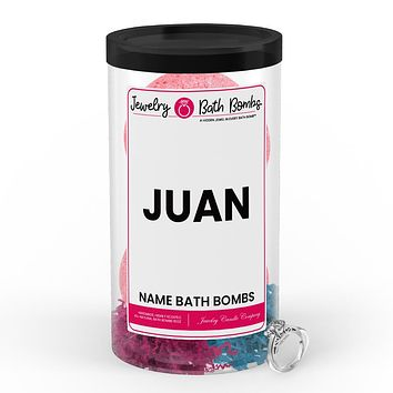 JUAN Name Jewelry Bath Bomb Tube