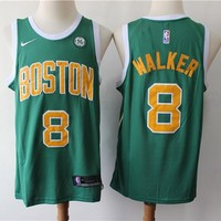 Boston Celtics 8 Kemba Walker Green City Edition Basketball Jersey