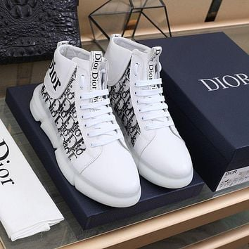 DIOR  Fashion Men Women's Casual Running Sport Shoes Sneakers Slipper Sandals High Heels Shoes