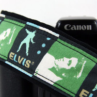 Elvis too Camera Strap, dSLR, SLR, Baby Blue, Green, Black, Choice of Color, 179 180
