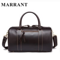 Travel Men Bags Genuine Leather Men Travel Bag Leather Luggage Tote Mens Bag Luggage Multifunction Travel Duffle Bags Marrant