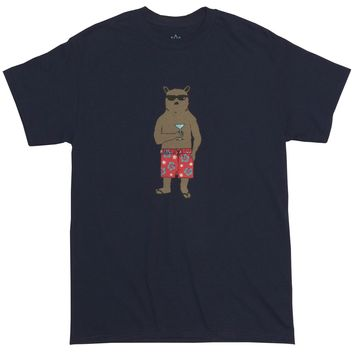 Altru Apparel Good Time Martini Drinking Bear tee
