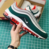 Nike Air Max 97 Green Sport Running Shoes - Sale
