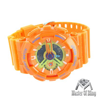 Orange Watch Mens Sports Adventure Edition Digital Analog Dial