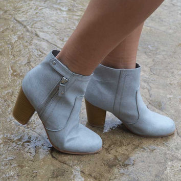 Walk On By Booties - Ash Grey