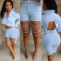 Denim & Chains Set