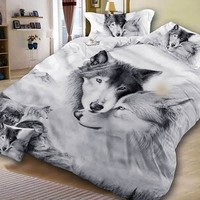 3pcs/lot Horse Printed Queen Comforter Sets Bedding King Twin Size Luxury 3d Bed Cover Set Duvet Cover Sheets Set Home Textiles