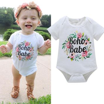 Toddler Baby Girl Boho Babe One Piece Onesuit Bodysuit 3-18 Months