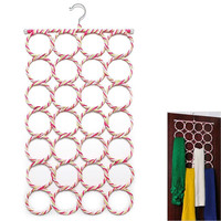 High Quality 1pcs Scarf Holder 28 Holes  Fashion Hook Storage Holder  For Rattan Weave Shawl Scarf Neat Hangers 73cm*38cm