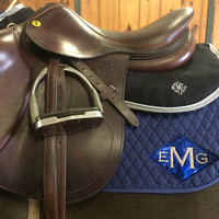 Equine Full Set - Navy with Blue Galaxy Diamond Applique