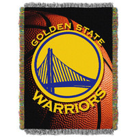 Golden State Warriors NBA Woven Tapestry Throw (48x60)
