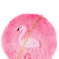 Flamingo Puff Cross Body Bag by Skinny Dip London
