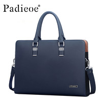 Padieoe Solid Genuine Leather Briefcases For Men Nb140502-1