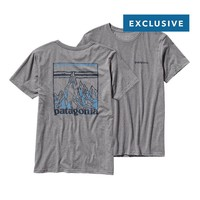 Patagonia Men's Etched Mountain Lightweight Cotton T-Shirt | Gravel Heather