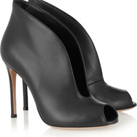 Gianvito Rossi|Cutout leather ankle boots |NET-A-PORTER.COM