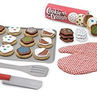 Slice & Bake Cookies Set - Play Food Set + FREE Melissa & Doug Scratch Art Mini-Pad Bundle [40747]