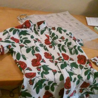 Flannel Roses Button Up Shirt