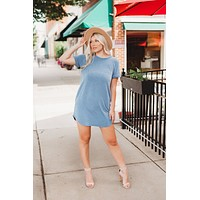 By The Way T-Shirt Dress (Blue)