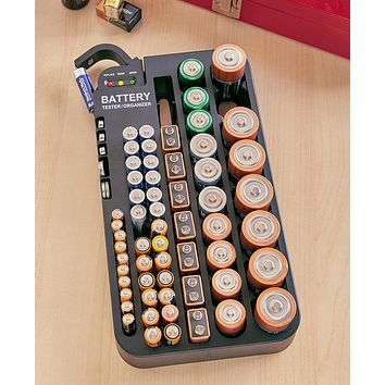 72 Battery Holder Tester, Storage & Organizer