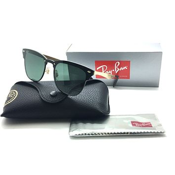 RayBan RB 3576 N Blaze Clubmaster 043/71 Gold Frame/Green Classic