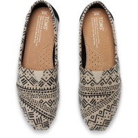 BLACK TAUPE PRINTED WOOL WOMEN'S CLASSICS