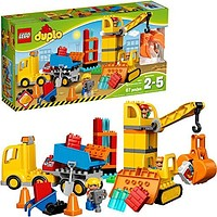 LEGO DUPLO Big Construction Site 10813 Building Set with Toy Dump Truck, Toy Crane and Toy Bulldozer for a complete Toddler Construction Toy Set (67 Pieces): Toys & Games