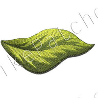 Green Leaf New Sew on / Iron On Patch Embroidered Applique Size 12.8cm.x6.2cm.