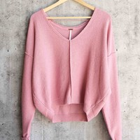 Free People - Take Me Places Pullover in Pink