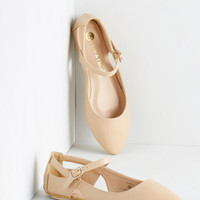 Vintage Inspired Pittsburgh Ease Flat in Tan by ModCloth
