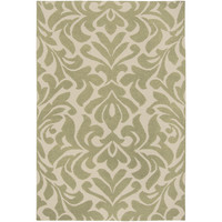 Market Place Wool Area Rug in Khaki Green and Parchment design by Candice Olson