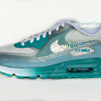 Women's Nike Air Max 90 Lunar C3.0 Running Shoes with Swarovski ombre detail