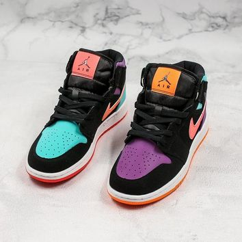 Air Jordan 1 Mid GS 'Candy' Basketball Shoes - Best Online Sale
