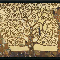 "0-016247>37x25"" Gustav Klimt The Tree of Life 1905-1911 Framed Print"
