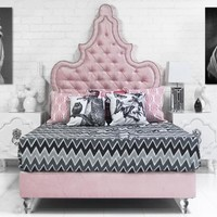 www.roomservicestore.com - Tangier Bed in Majestic Pink Lady Velvet