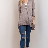 Lightweight Hooded Pullover Tunic