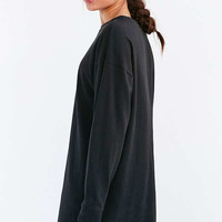 BDG Maeby Oversized Long-Sleeve T-Shirt Dress   Urban Outfitters