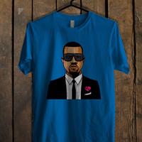 Kanye West Cool Blue For Mens T Shirt and Womens T Shirt *76*