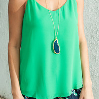 See The Bright Side Tank, Green