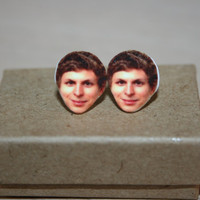 Michael Cera Post Stud Earrings Celebrity Jewelry