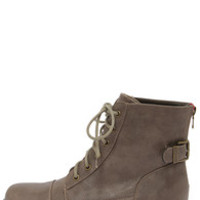 Bamboo Battle 23 Taupe Lace-Up Ankle Boots