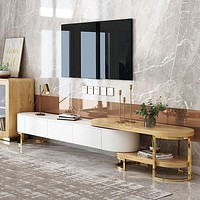 Contemporary Extending TV Stand with Storage