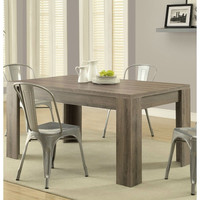 Modern 59 x 35.5- Inch Dining Table in Dark Taupe Wood Finish