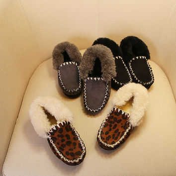 Winter Korean Leather Tods Princess Shoes [4919280836]