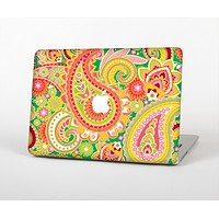 The Vibrant Green and Pink Paisley Pattern Skin for the Apple MacBook Air 13""