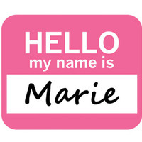 Marie Hello My Name Is Mouse Pad