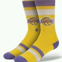 Mens Stance Los Angeles Lakers Crew Socks