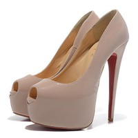 Christian Louboutin Fashion Edgy Red Sole Heels Shoes-93