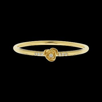 14kt Diamond Rose Petal Ring