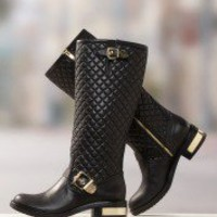 Quilted Motorcycle Boot Boston Proper