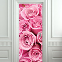 """Door STICKER rose st. valentines day mural decole film self-adhesive poster 30x79""""(77x200 cm) / from Pulaton"""